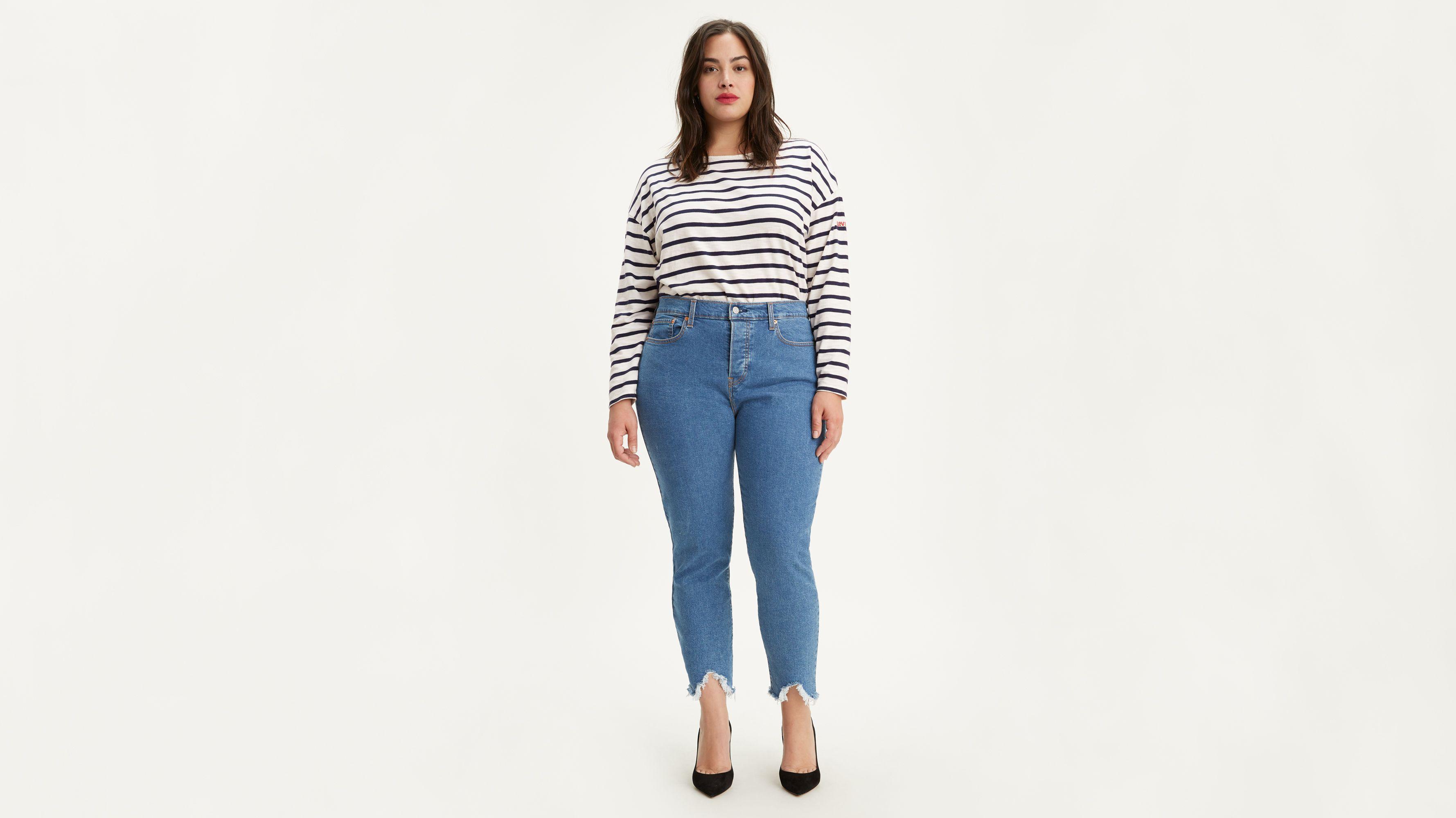 Vintage Blue Blau Skinny Fit Wrangler Damen Jeans High Skinny