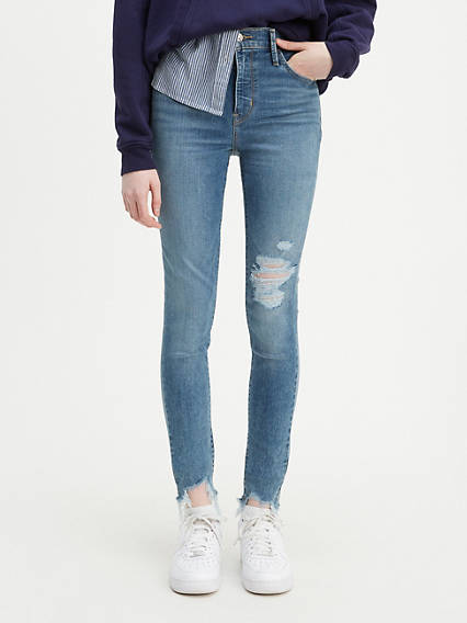 720 High Rise Super Skinny Ripped Women's Jeans