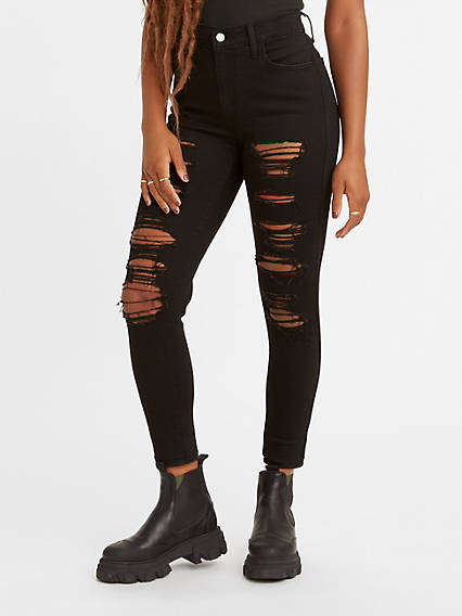 720 High Rise Ripped Super Skinny Women's Jeans