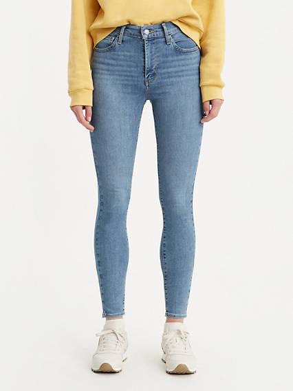 720 Jean super filiforme taille haute pour femme