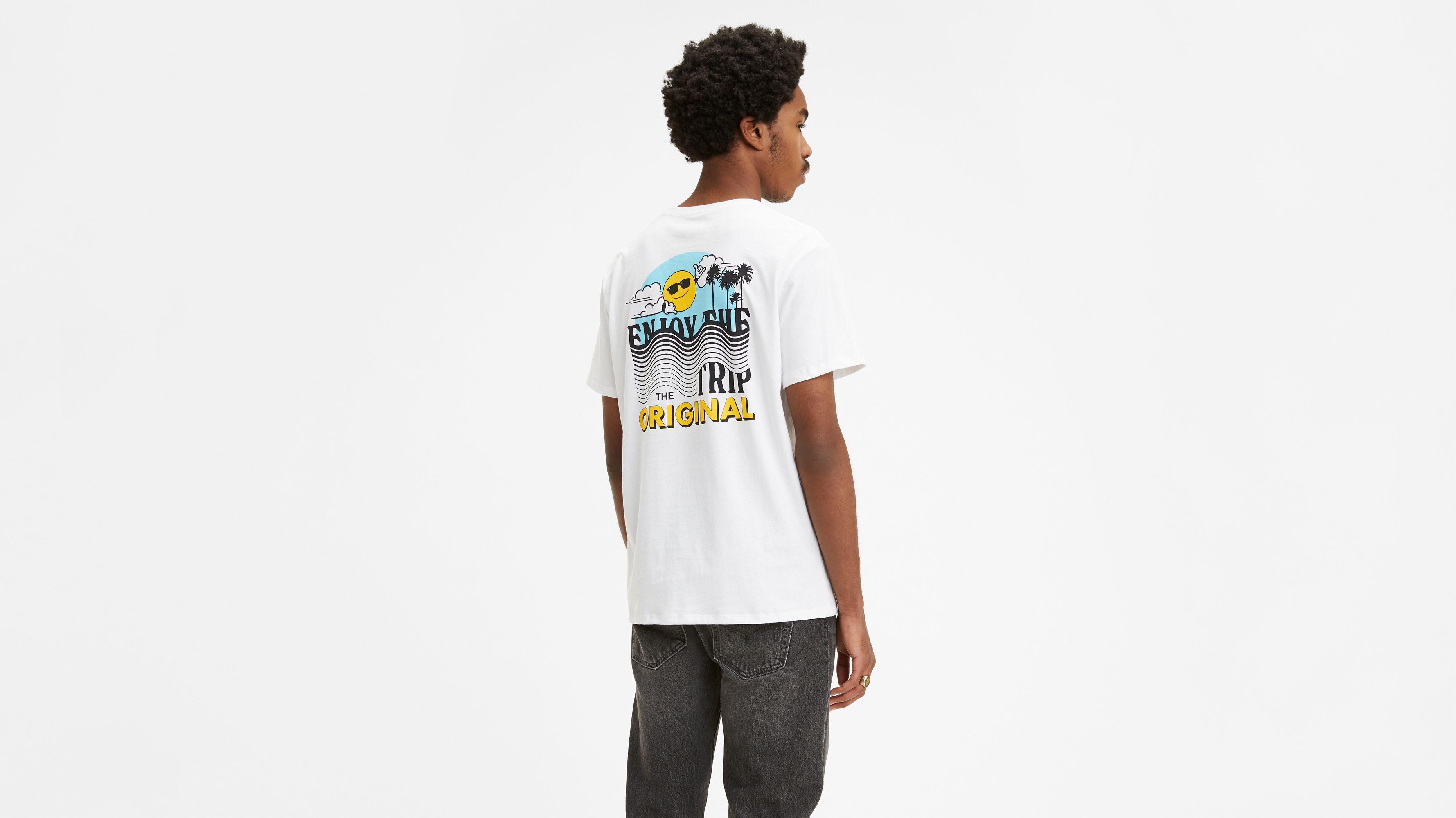 Retro Chest Logo Graphic Tee Shirt