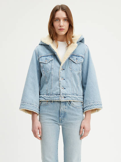 Levi's® Made & Crafted® Cropped Sherpa Trucker