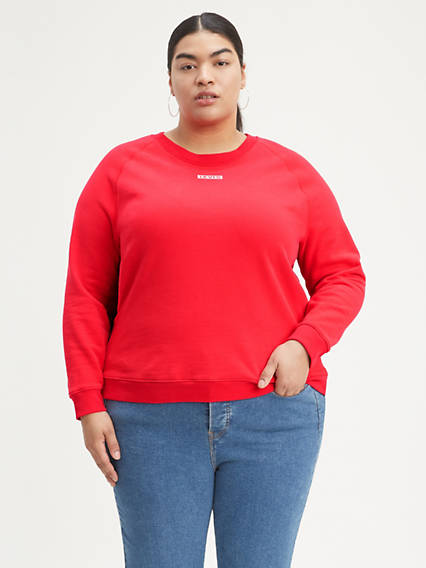 Relaxed Graphic Crew (Plus Size)