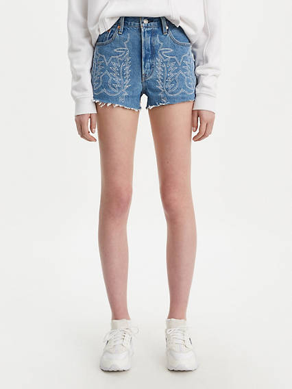 501® High Rise Embroidered Shorts