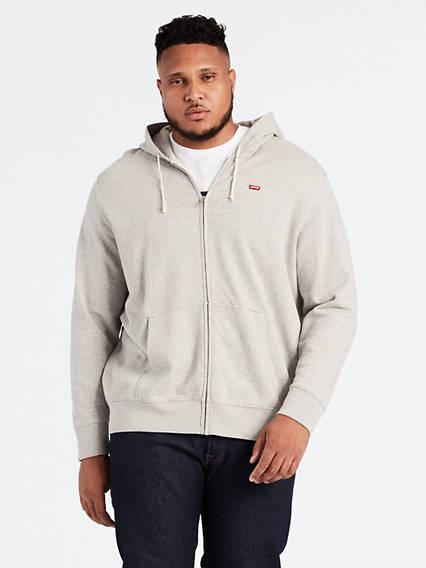 Levi's® Logo Zip Hoodie (Big)