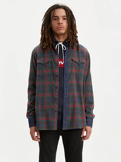 Plaid Barstow Western Shirt