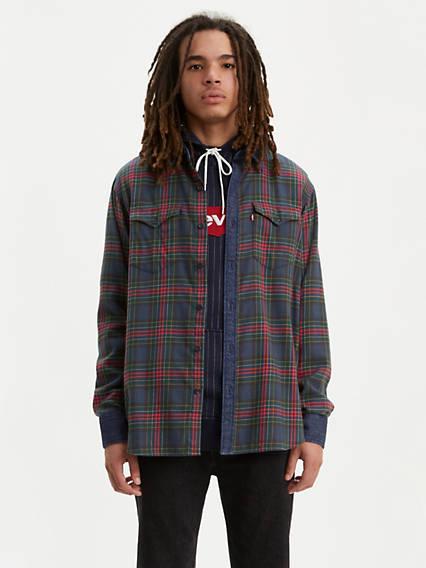 Plaid Barstow Western Shirt