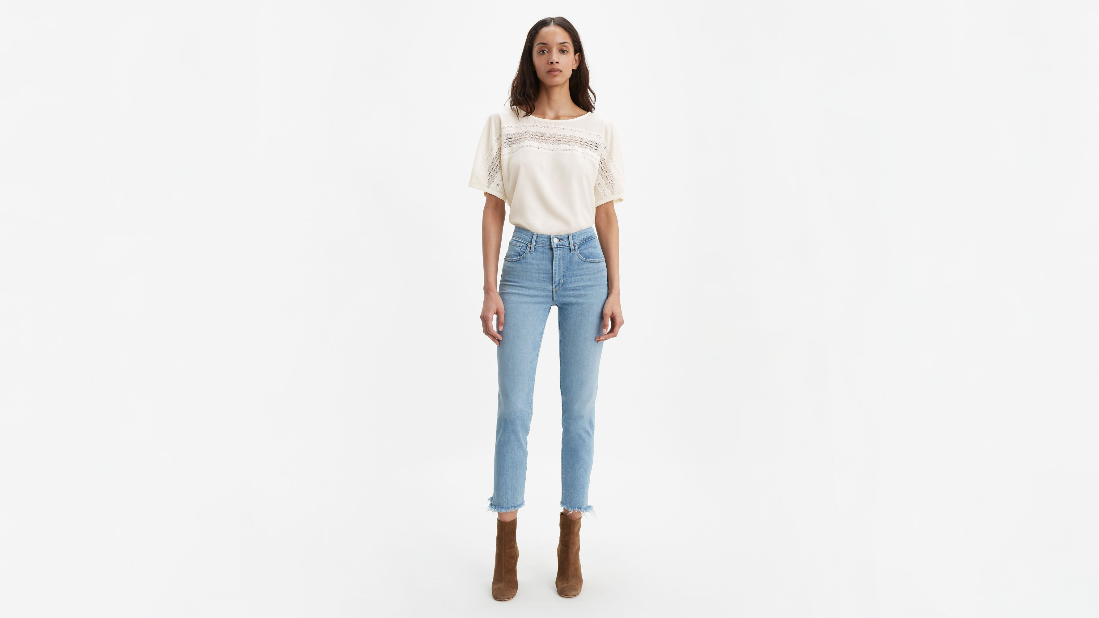 724 High Rise Straight Crop Women's Jeans