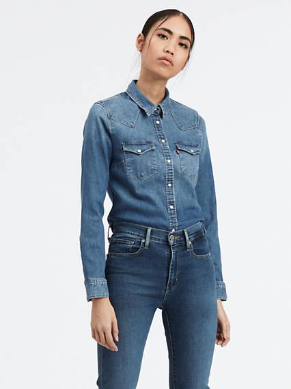 levi's - Ultimate Western Shirt - Blau / Hazy Blue