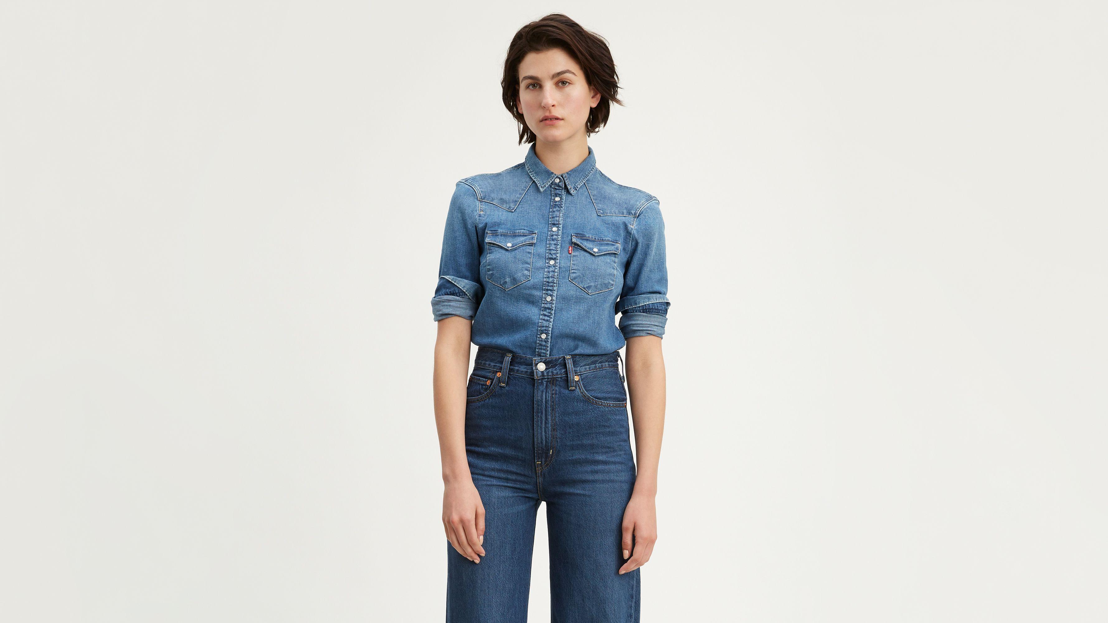 levis womens denim shirt