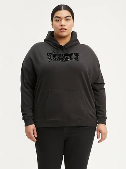 Sequin Graphic Hoodie (Plus Size)