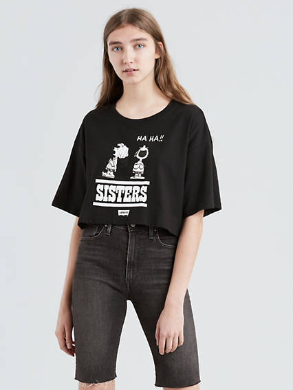 Levi's® X Peanuts Graphic Cropped Slacker Tee