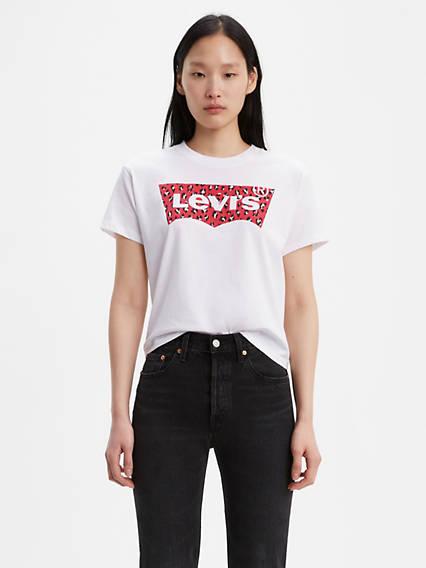 Leapard Fill Levi's® Logo Varsity Tee Shirt