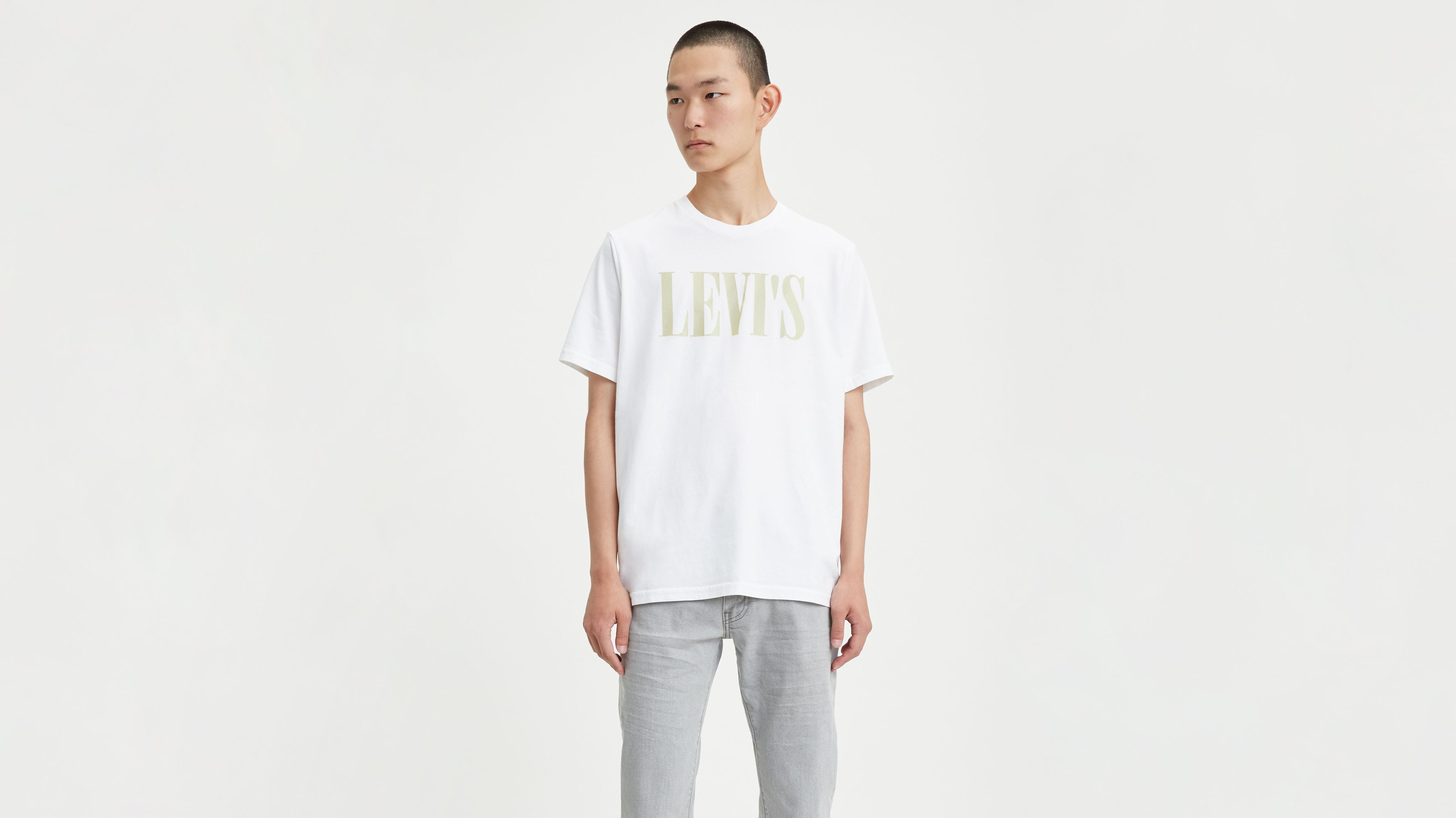 Levi's00ae Serif Logo Relaxed Graphic Tee Shirt