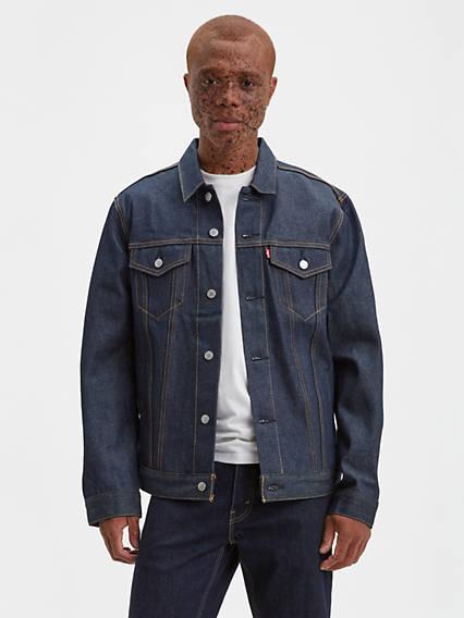 Men's Vintage Workwear – 1920s, 1930s, 1940s, 1950s Levis Trucker Jacket - Mens 2XL $69.99 AT vintagedancer.com