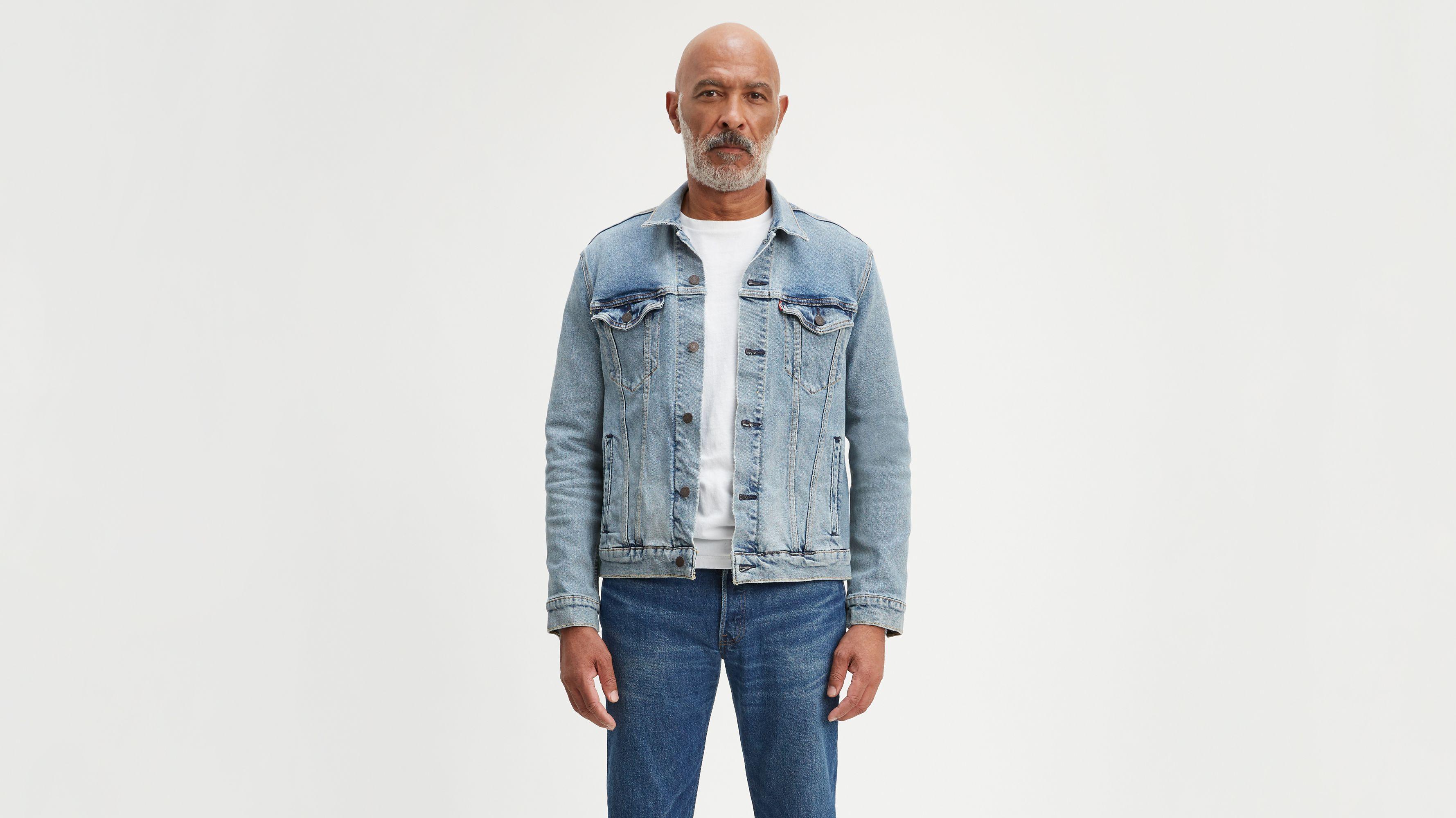 Light Normal Dark 2 Denim Patche Jean Jacket Blue Navy Repair Patch Cotton Twill