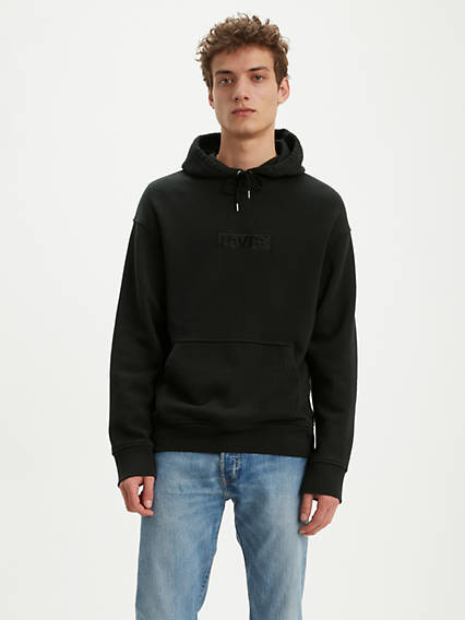 Tonal Box Tab Oversized Graphic Hoodie
