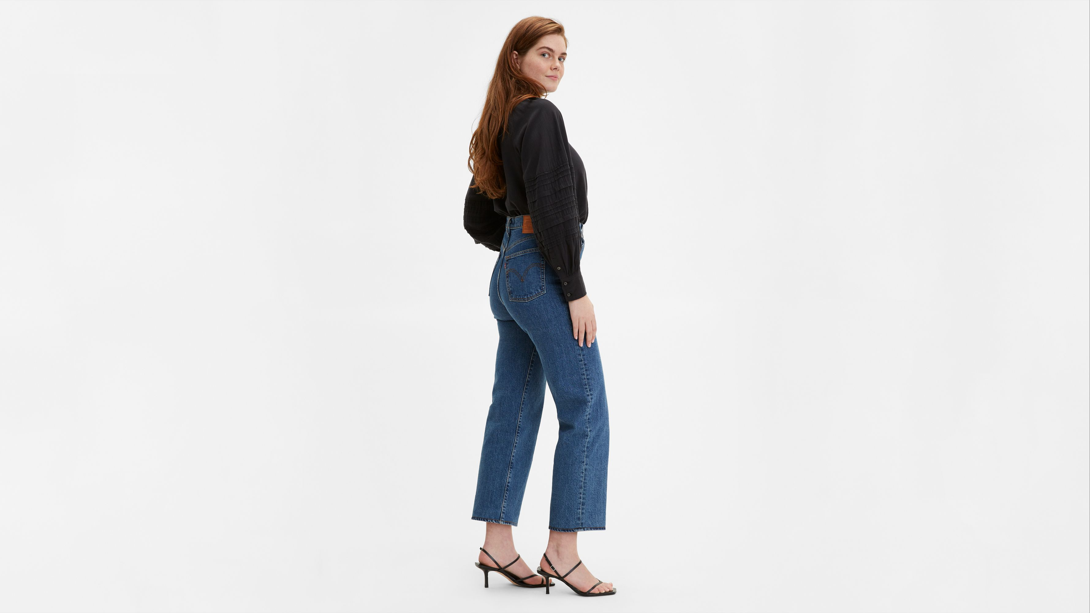 Ribcage Straight Ankle Jeans Blue | Levi's® GB