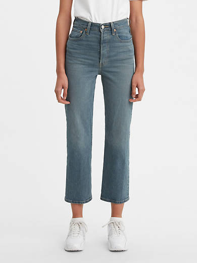 Levis Ribcage Straight Ankle Womens Jeans