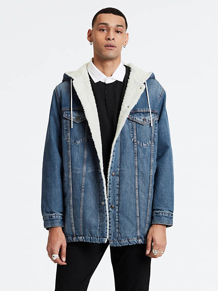 Long Sherpa Hood Trucker