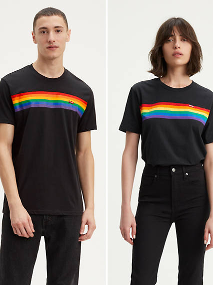 Levi's® Pride Pieced Striped Tee Shirt