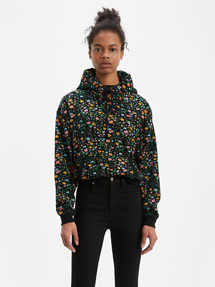 All Over Floral Hoodie