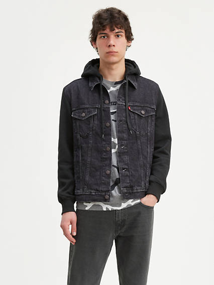 Hybrid Hooded Trucker Jacket