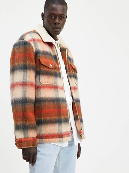 Leather Sherpa Ranch Coat