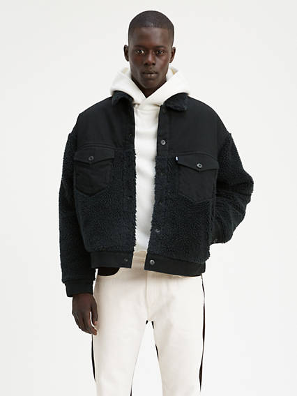 Levi's® Made & Crafted® Oversized Sherpa Trucker