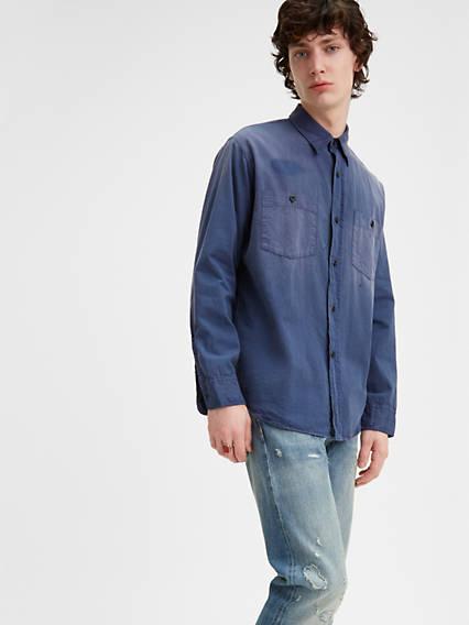 Men's Vintage Workwear – 1920s, 1930s, 1940s, 1950s Levis 1950s Work Shirt - Mens XL $195.00 AT vintagedancer.com