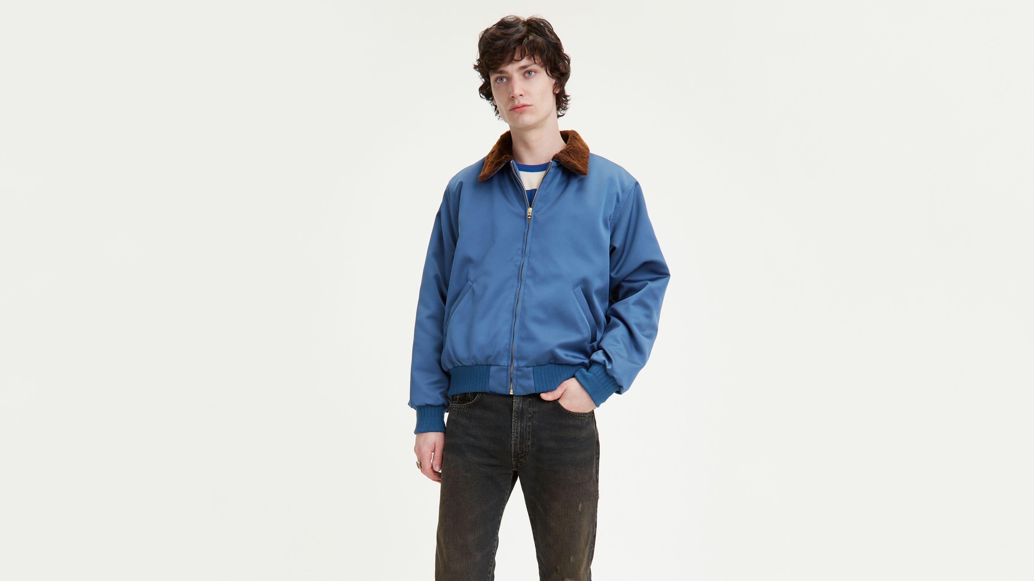 levis chaqueta piel azul hombre