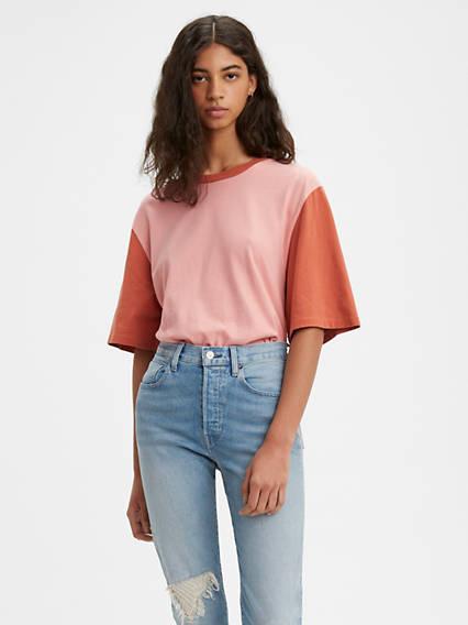 Oversized Sleeve Tee Shirt