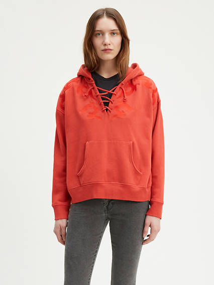 Levi's® Made & Crafted® Lace Up Hoodie