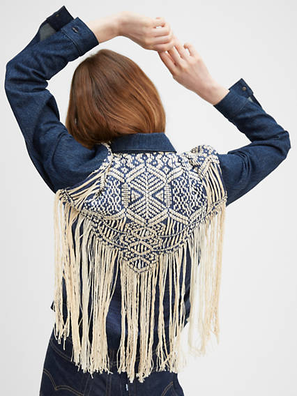 French Fringe Trucker Jacket