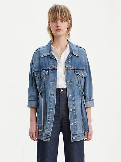 Belted Trucker Jacket