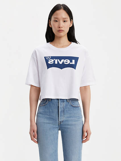 T-shirt graphique surdimensionné à logo inversé