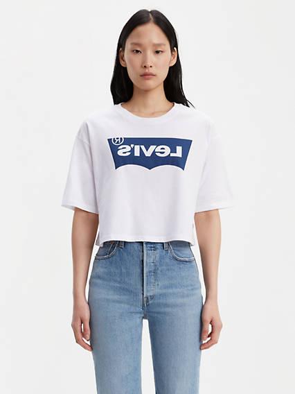 Graphic Oversize Tee Shirt Reverse Logo