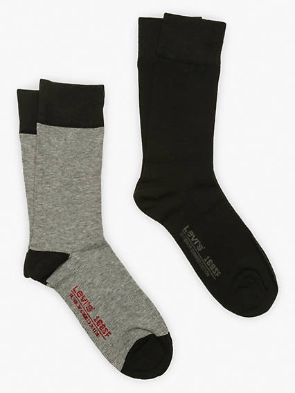 Levi's® Socks- Regular Cut Micro Stripe (2 Pair)
