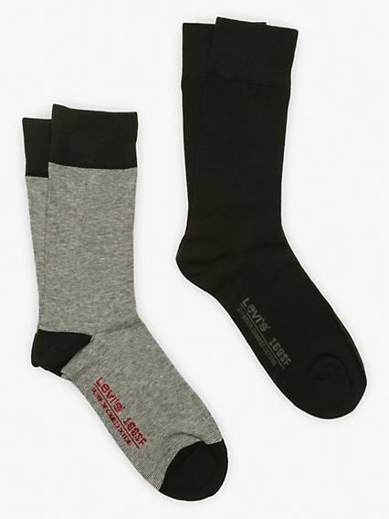 Levi's® Socks- Regular Cut Micro Stripe (2 Pair)