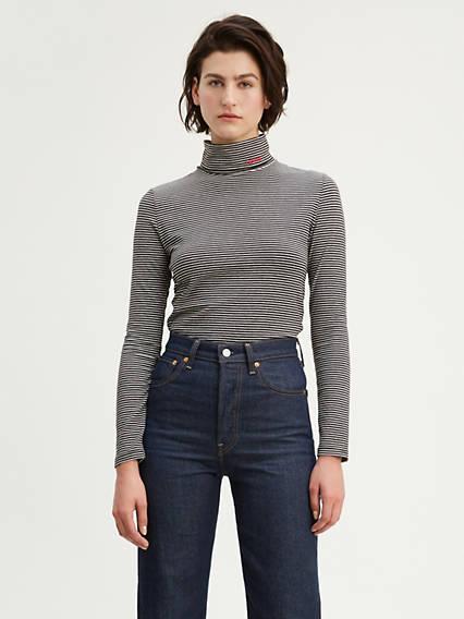 Col roulé en tricot