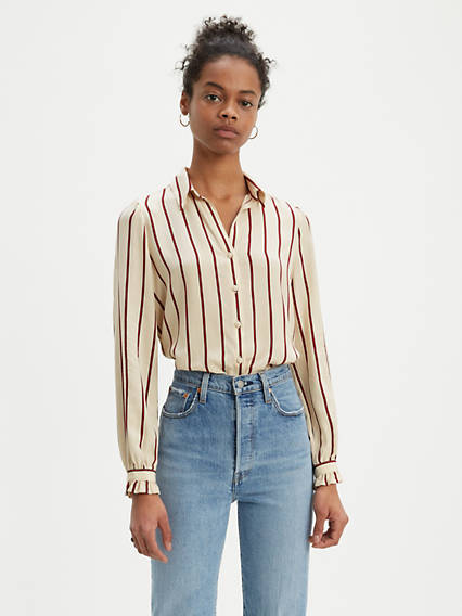 Striped Marcey Top