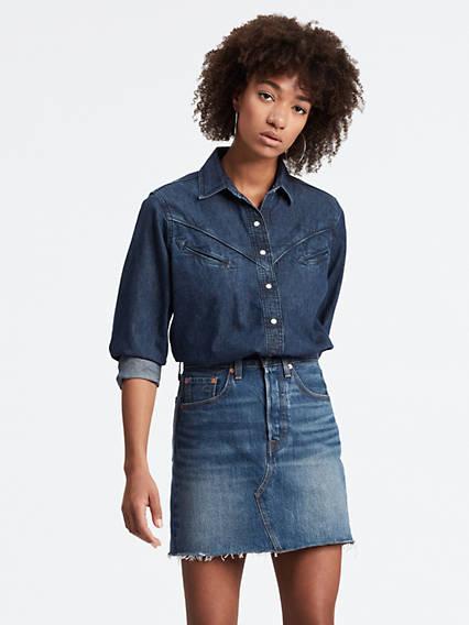 levi's - Dori Western Shirt - Blau / Blue