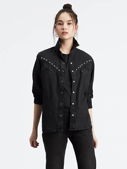 levi's - Dori Western Shirt - Schwarz / Black Sheep