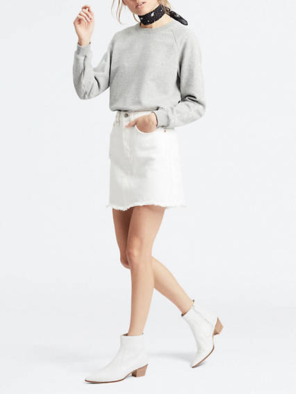 Deconstructed Iconic Boyfriend Skirt