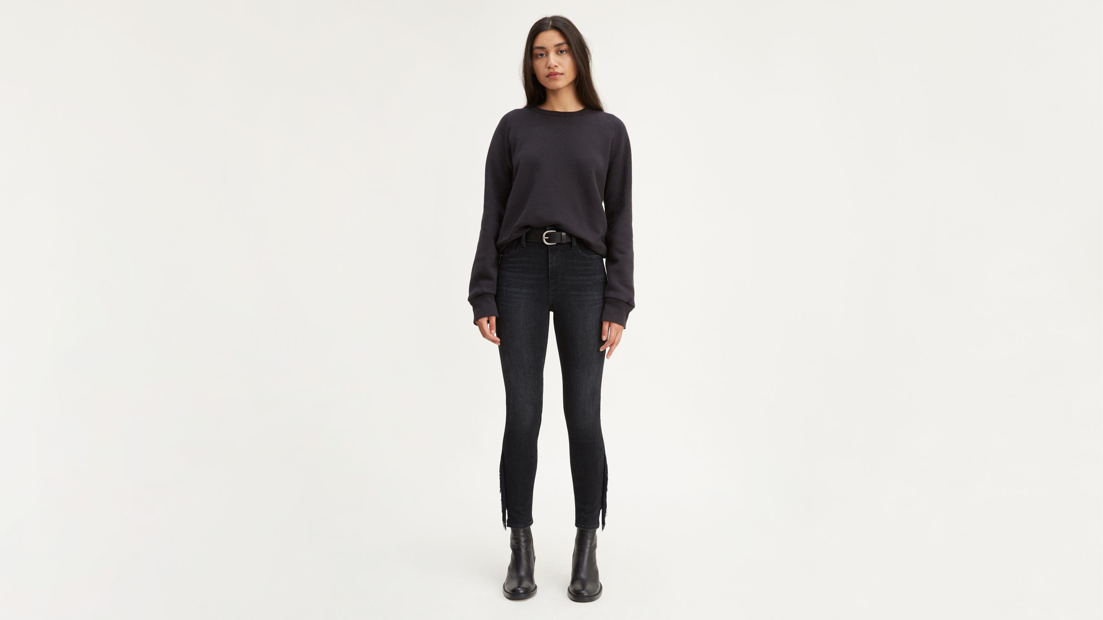 721 High Rise Fringe Ankle Women's Jeans