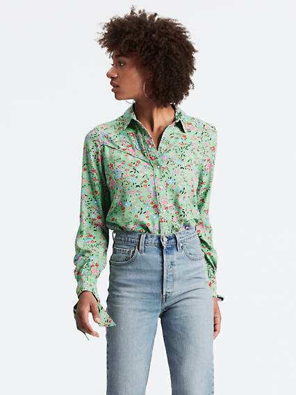 Selita Western Tie Cuff Shirt