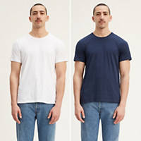 2-Pack Levis Mens Slim Fit Crewneck Tee Shirt