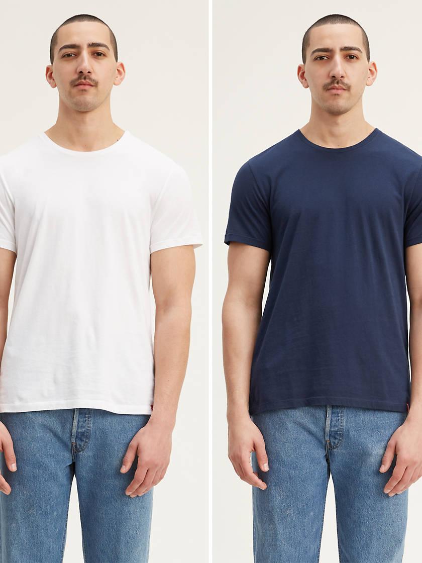 2-Pack Levis Mens Slim Fit Crewneck Tee Shirt (various colors/sizes)