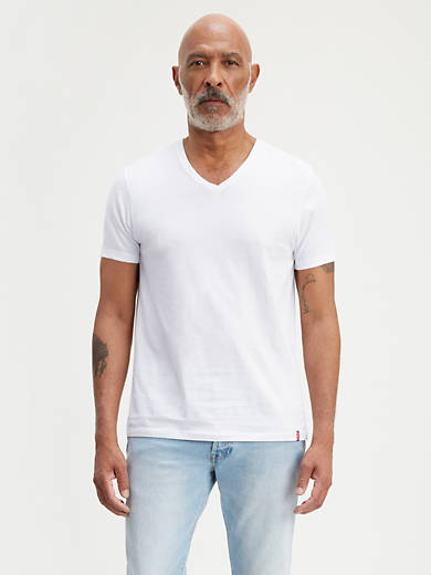 Levi/'s Mens V Neck T-Shirt 200SF Series 2-Pack