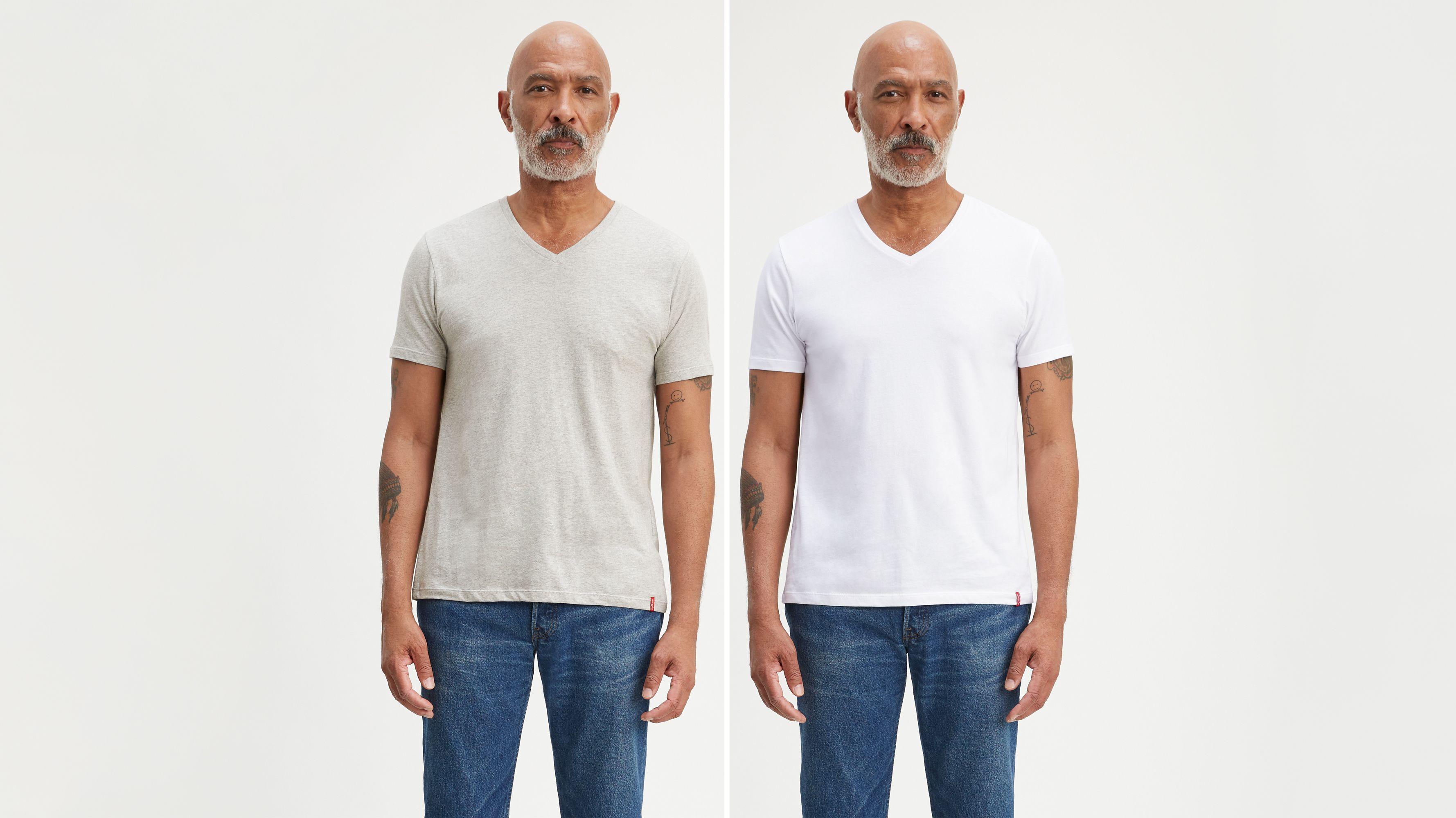 Slim Fit V-Neck Tee Shirt (2-Pack)